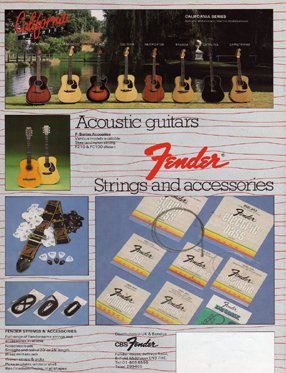 1983 Fender Catalogue - Featuring 'F' Series 210 Dreadnought